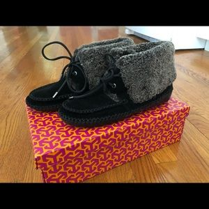 New! Troy Burch Nathan Bootie Black Suede Size 9